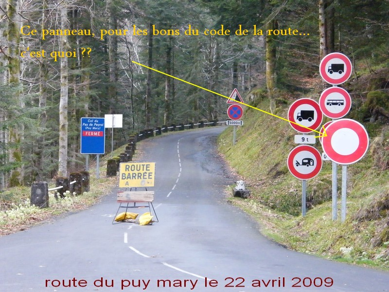 acces puy mary cote salers Routed10
