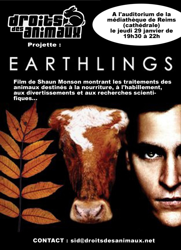 Projection Earthlings 29 janvier à Reims Affich10