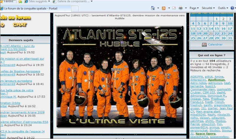 [STS-125] Atlantis : suivi du lancement (11/05/2009) - Page 6 Image111