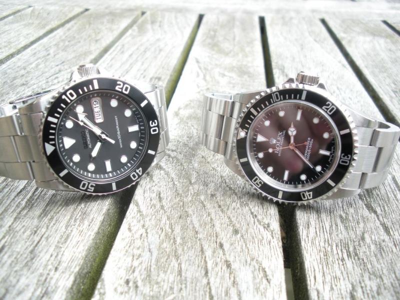 Petit Comparatif Rolex Submariner 14060M / Seiko Diver 100 Dscn1424