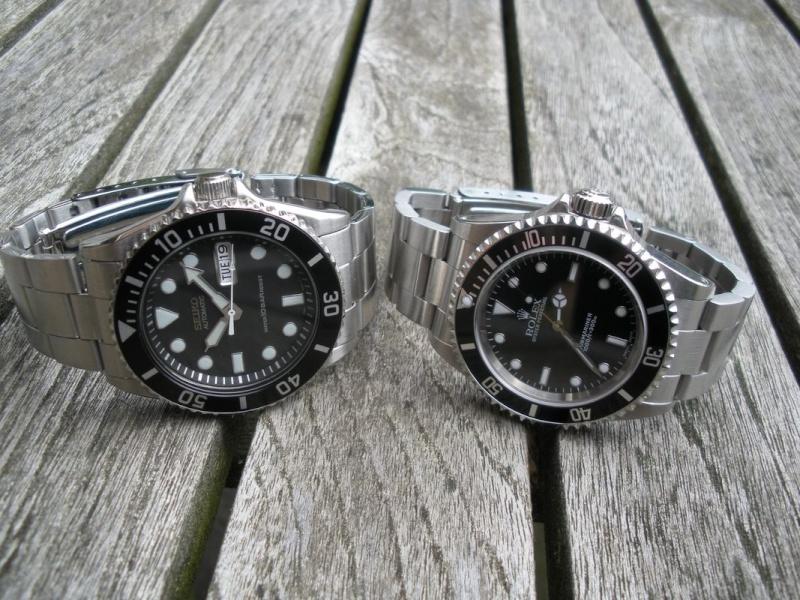 Petit Comparatif Rolex Submariner 14060M / Seiko Diver 100 Dscn1425