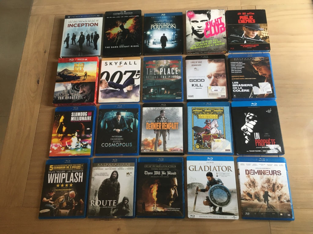 (VENDS) : Lot 20 blu-ray + lot 84 DVD + divers Br-lot10