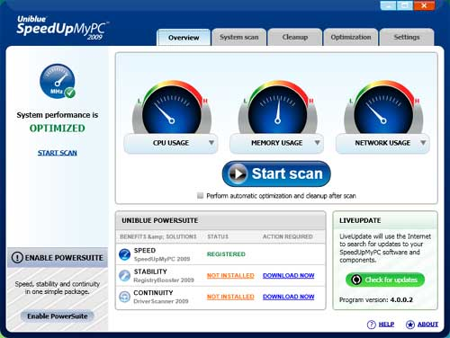 برنامج تسريع الجهاز و تفريغ الذاكرة Uniblue Speed Up My PC 2010 4.2.1.1 Speedu10