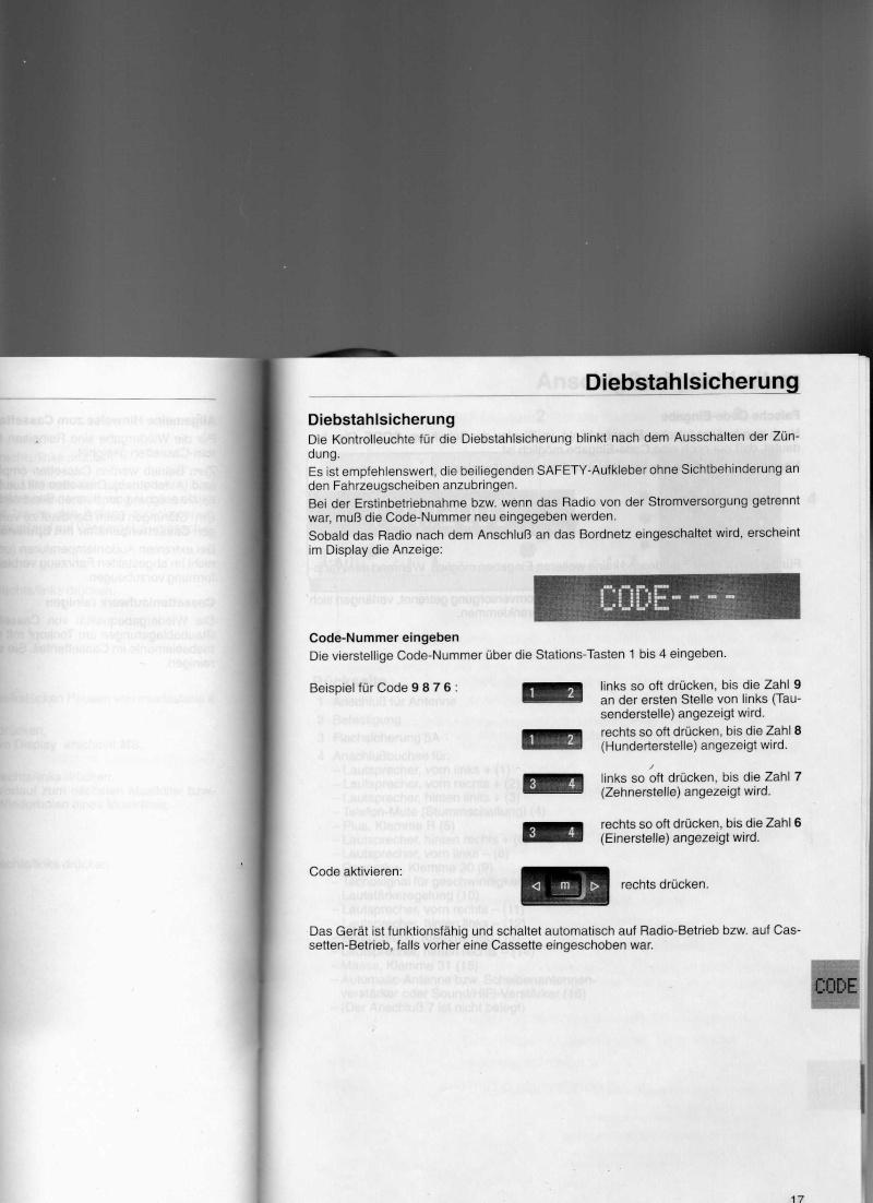 [BMW 330 da E46] Programmer le code sur autoradio business Bmw33210