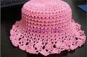 Летние вязанные шапочки,  шляпки и косынки 127