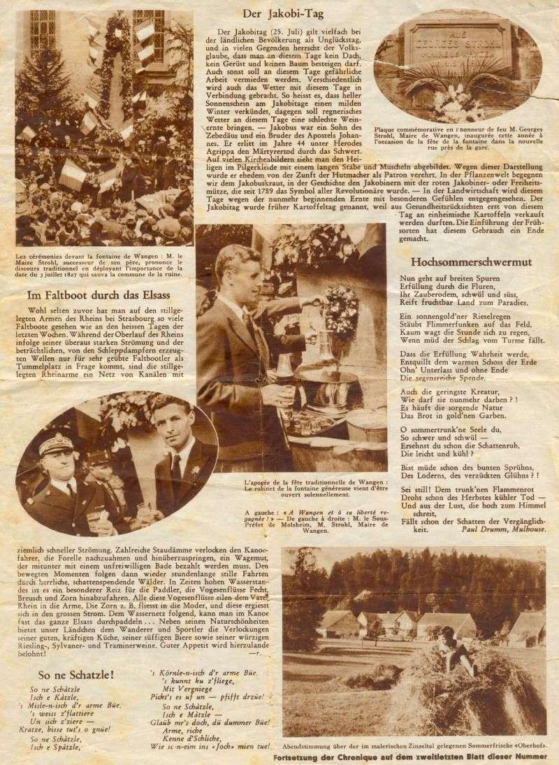 Wangen,fête de la fontaine de 1938 1398910