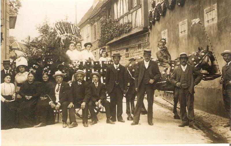 Wangen:le vin,la fontaine,la fête... 1911_810