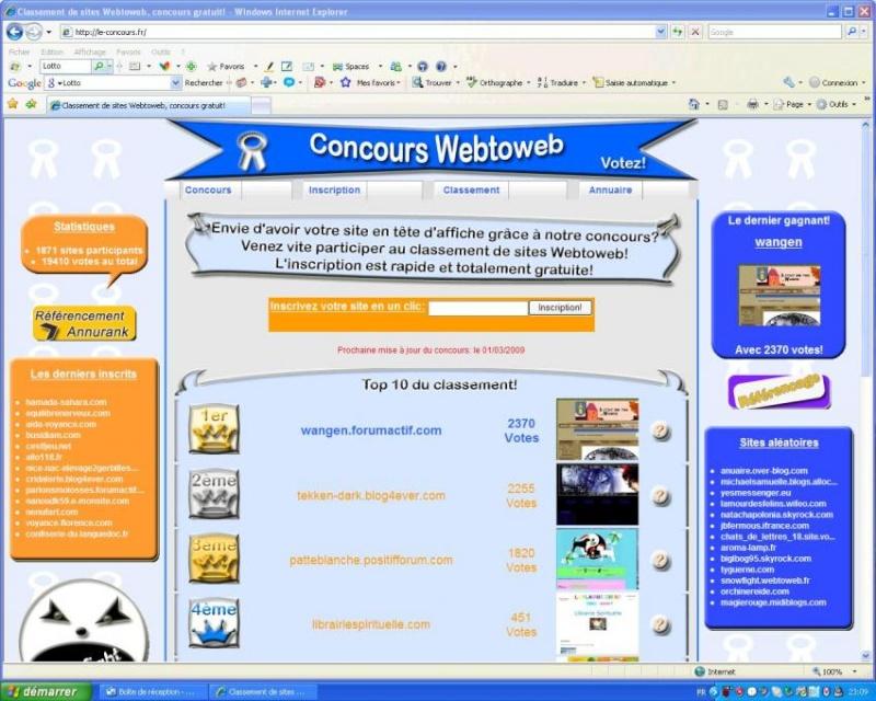 Il était une fois Wangen:1er au classement Webtoweb ! 652vop10