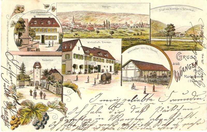 cartes postales - Cartes postales anciennes de Wangen Carte110