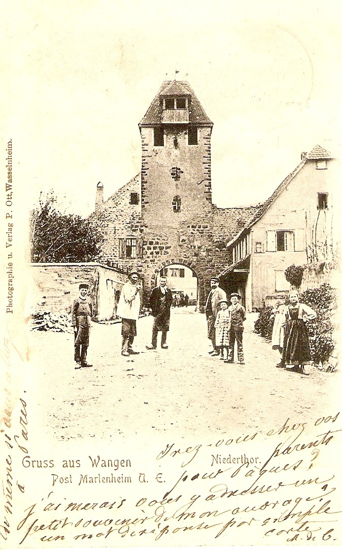 Cartes postales anciennes de Wangen Carte111