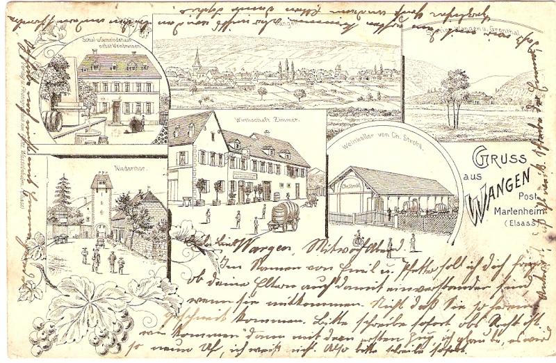 cartes postales - Cartes postales anciennes de Wangen Carte210