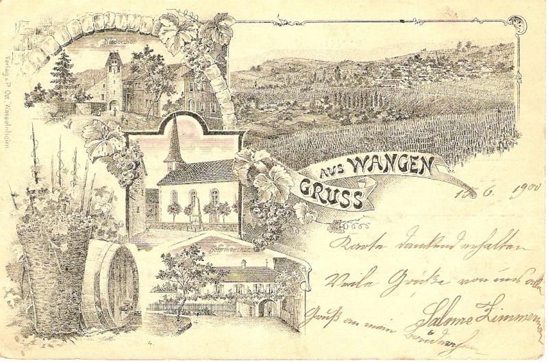 cartes postales - Cartes postales anciennes de Wangen Carte310