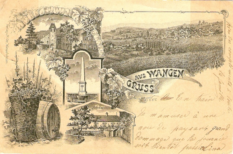 cartes postales - Cartes postales anciennes de Wangen Carte410