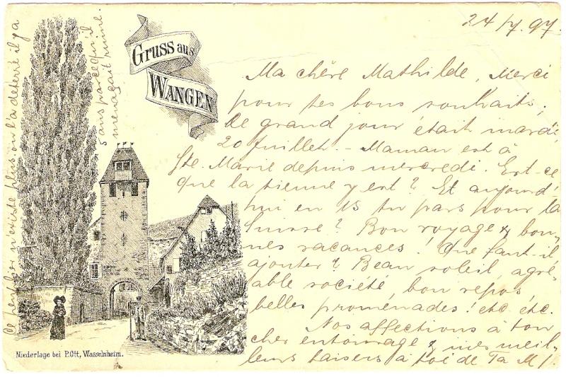 cartes postales - Cartes postales anciennes de Wangen Carte510