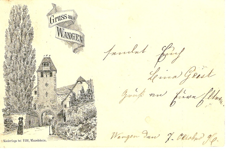 cartes postales - Cartes postales anciennes de Wangen Carte610