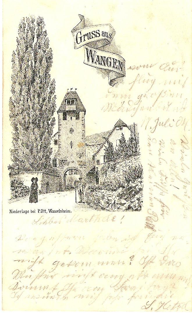 cartes postales - Cartes postales anciennes de Wangen Carte710