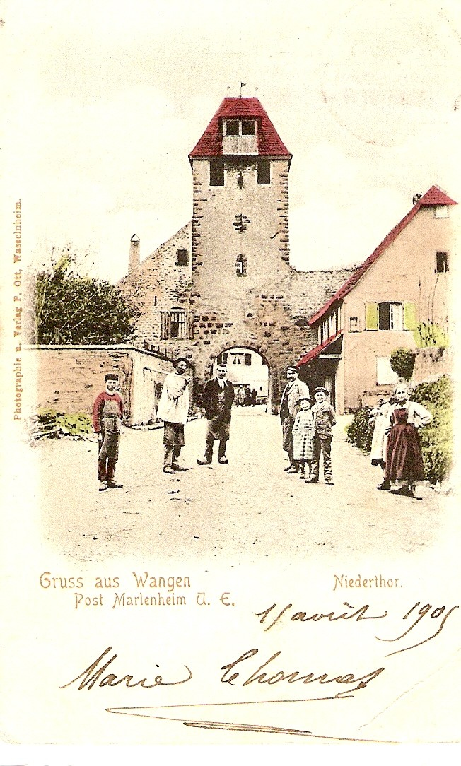Cartes postales anciennes de Wangen Carte910
