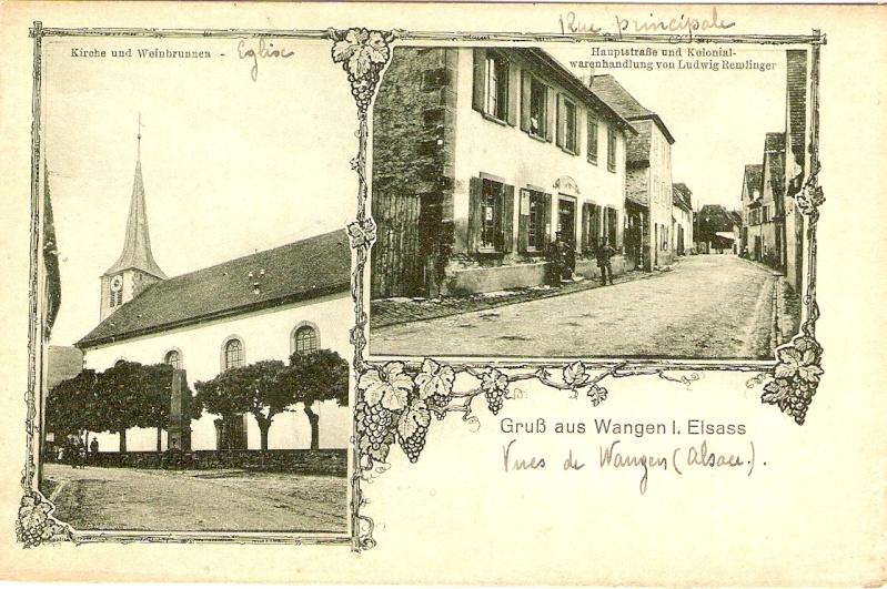 Cartes postales anciennes de Wangen Cartes10