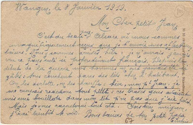 cartes postales - Cartes postales anciennes de Wangen Envoi110