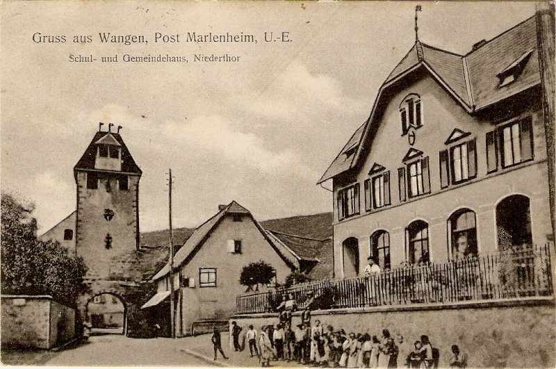 cartes postales - Cartes postales anciennes de Wangen Envoi210