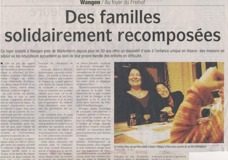 Wangen,le Freihof : article de David Geiss dans les  DNA du 10 février 2009 Image040