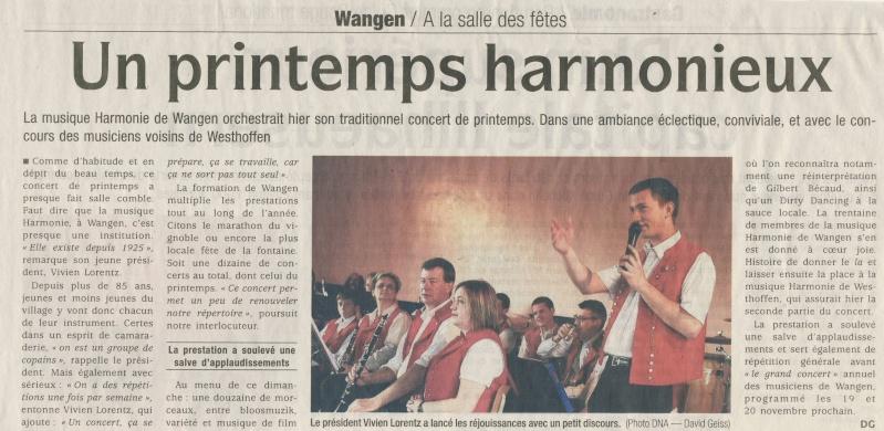harmonie - Concert de printemps de la Musique Harmonie de Wangen le dimanche 3 avril 2011 Image185