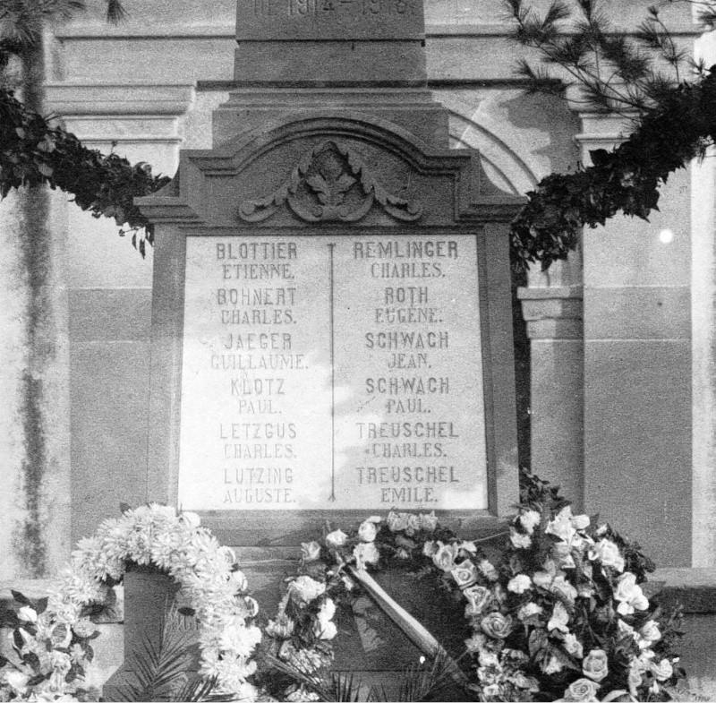 Wangen et ses trois monuments aux morts Morts110