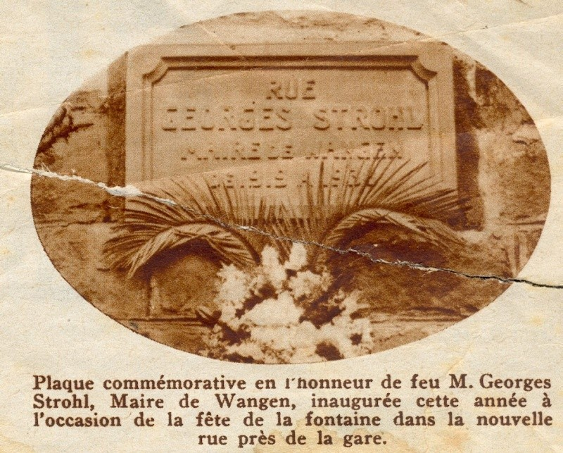 Wangen,fête de la fontaine de 1938 Plaque10