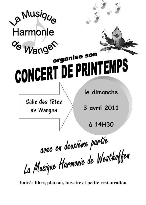 harmonie - Concert de printemps de la Musique Harmonie de Wangen le dimanche 3 avril 2011 Sans_t11