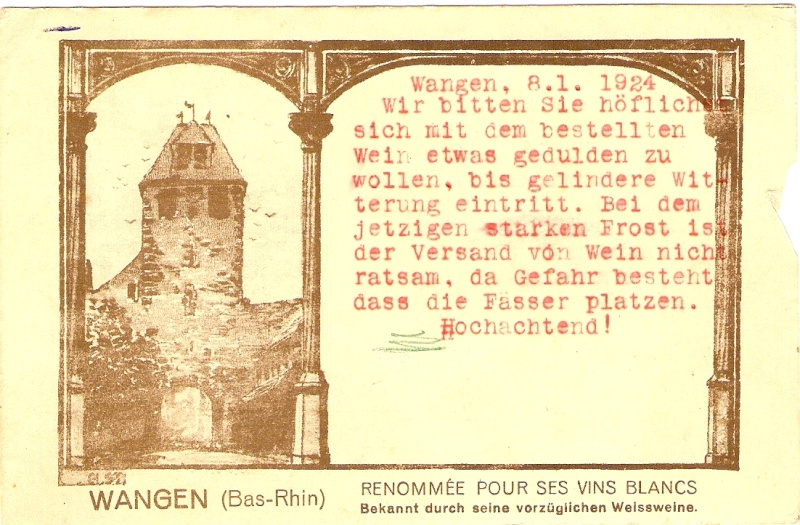 cartes postales - Cartes postales anciennes de Wangen Serie_11