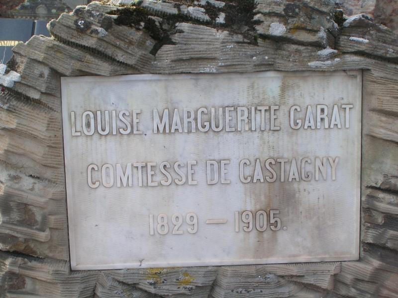 marguerite - Joséphine et Louise Marguerite Garat, fille et petite fille de Schulmeister Tombe_11