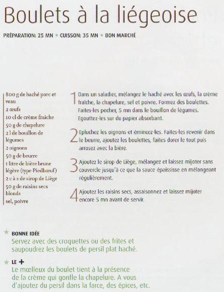 Boulets à la liégeoise (Belgique) Recett13