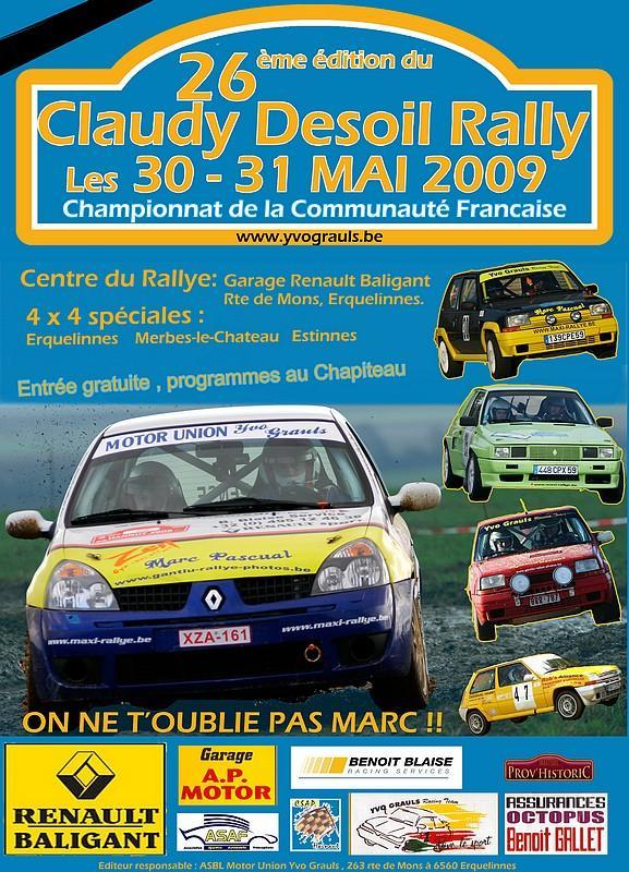 [Claudy Desoil rally] 30 et 31 mai infos, engagés ..... 12408610