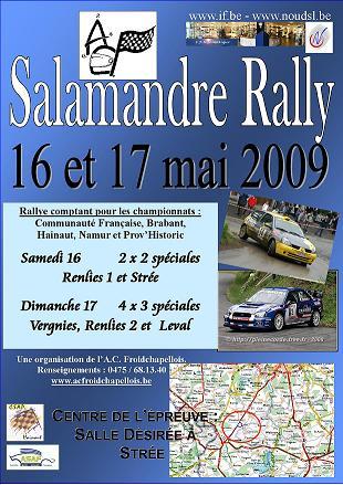 [salamandre rally] 16 et 17 mai 2009 infos, engagés.... Salama10
