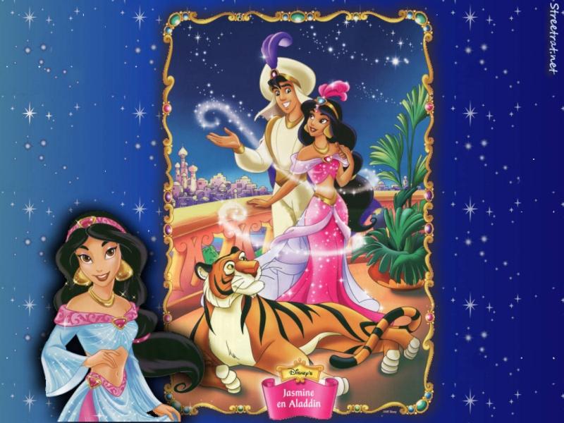 Wallpapers sur la Princesse Jasmine et Aladdin (Aladdin) Aladdi10