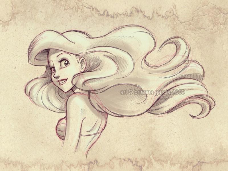 Déssins sur La Petite Sirène de The Little Mermaid !!! Ariel-73