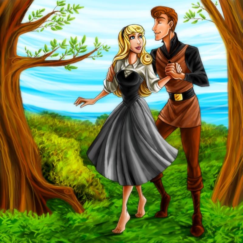 Dessins sur Sleeping Beauty (La Belle Au Bois Dormant) Couple10