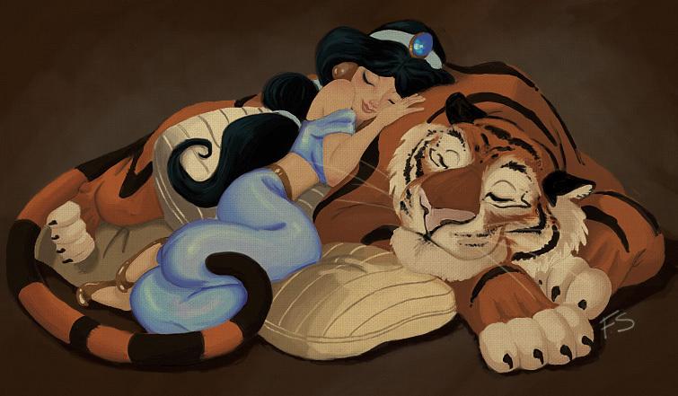 Fan-Arts sur la Princesse Jasmine avec Aladdin (Aladdin) Jasmin12