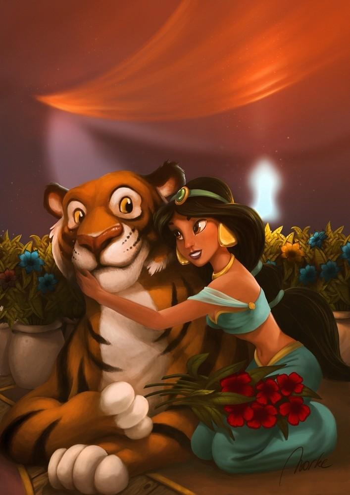 Fan-Arts sur la Princesse Jasmine avec Aladdin (Aladdin) Jasmin13