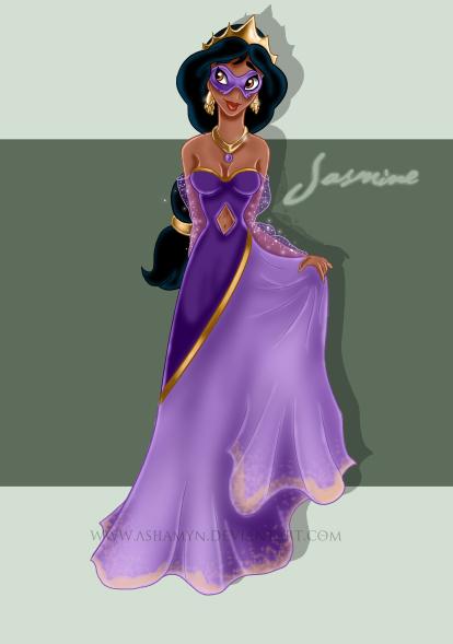 Fan-Arts sur la Princesse Jasmine avec Aladdin (Aladdin) Masque14