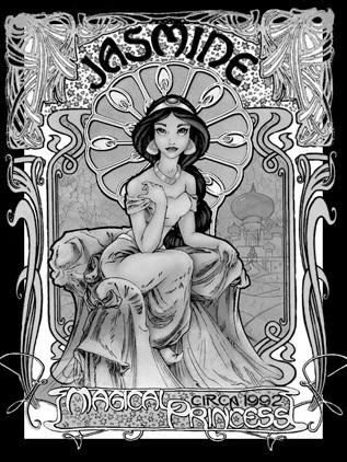 Fan-Arts sur la Princesse Jasmine avec Aladdin (Aladdin) Princ102