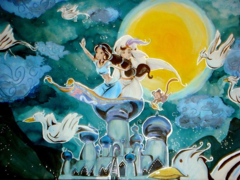 Fan-Arts sur la Princesse Jasmine avec Aladdin (Aladdin) Princ105