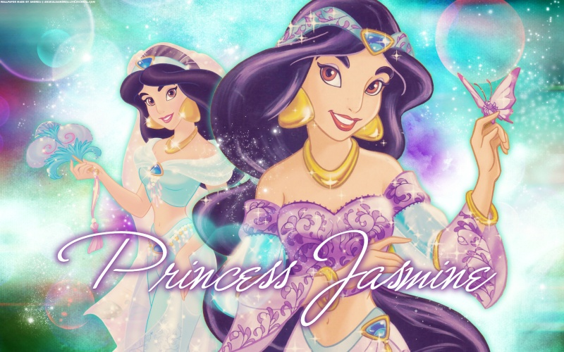 Wallpapers sur la Princesse Jasmine et Aladdin (Aladdin) Princ108