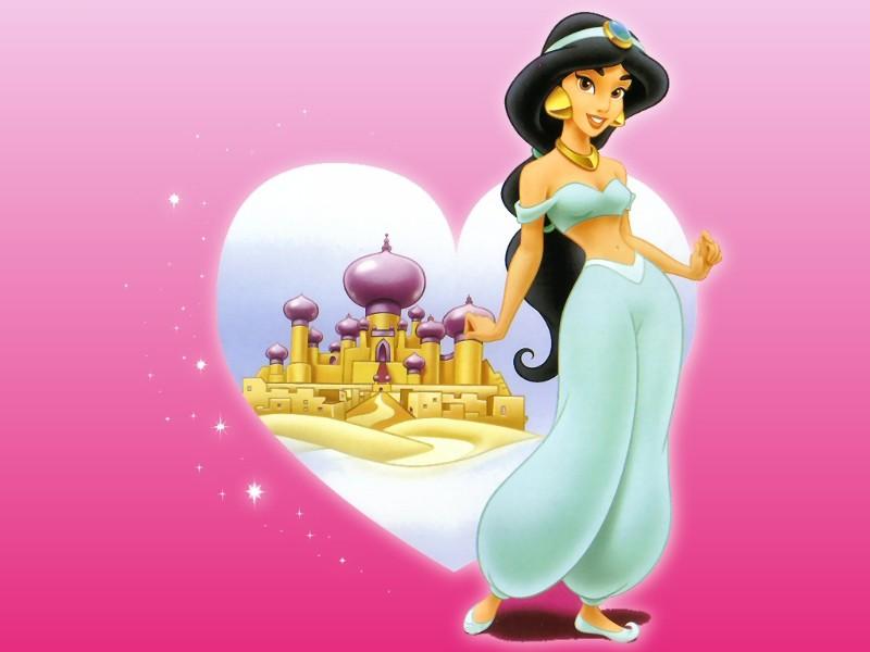 Wallpapers sur la Princesse Jasmine et Aladdin (Aladdin) Princ109