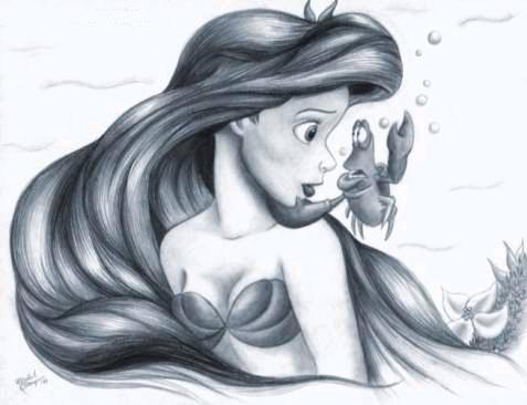 Déssins sur La Petite Sirène de The Little Mermaid !!! Sketch11