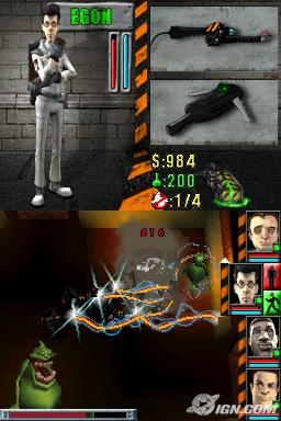 Images du jeu video version nintendo DS. Ghostb12