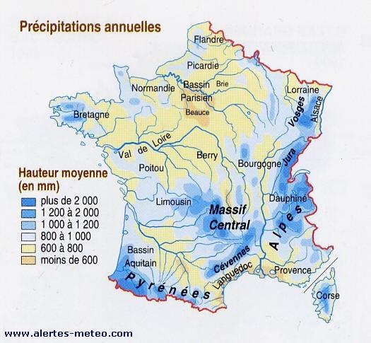 Précipitations / CLIMAT / Météo / Pluies Averses Pluie Neige Precip10