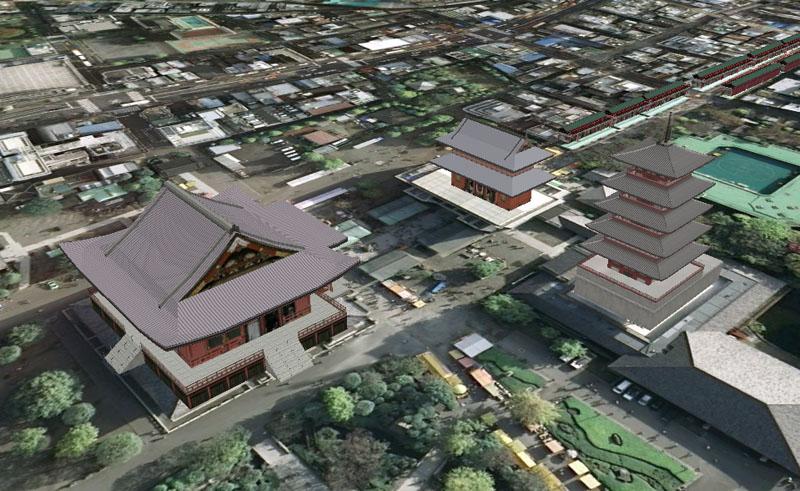 TOKYO / TOKYO 3D / JAPON / VISITE VIRTUELLE Senso-10