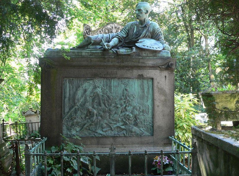 Le cimetière du Père-Lachaise / Géricault / Morrisson Tombe-10
