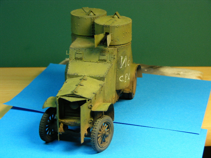 Armstrong-Whitworth- Fiat (Izorski) Russian armored Car WW I Patine12